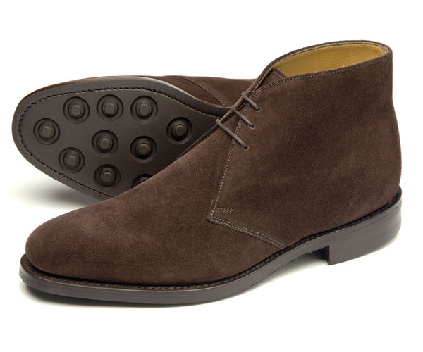 Loake Pimlico Suede Chukka Boot - Brown - Lucks of Louth