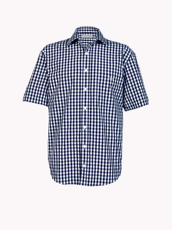 RM Williams Hervey Shirt - Navy/White - Lucks of Louth