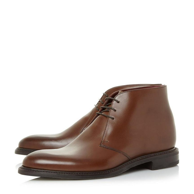 Loake Spirit Calf Chukka Boot - Dark Brown - Lucks of Louth