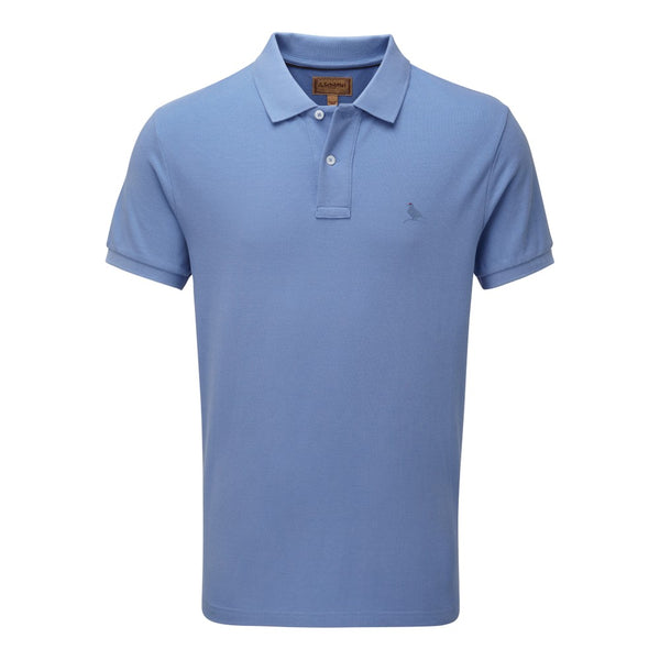 Schoffel St Ives Polo Shirt - Cornflower Blue - Lucks of Louth