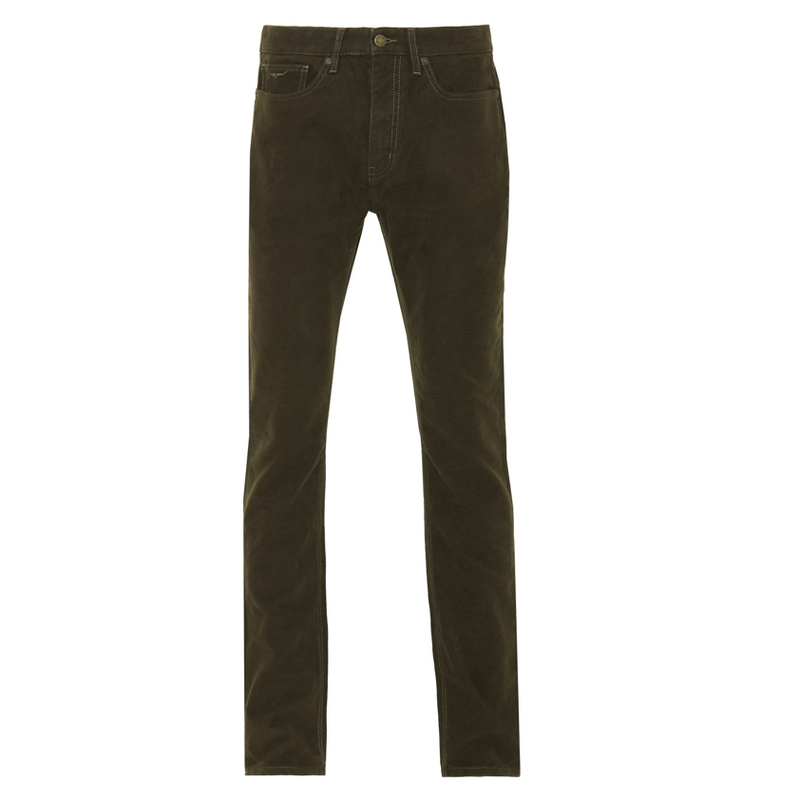 RM Williams Ramco Moleskin Jeans - Olive - Lucks of Louth