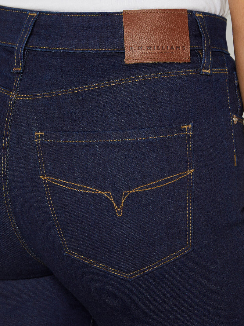 RM Williams Ladies Albury Jean - Indigo Rinse - Lucks of Louth
