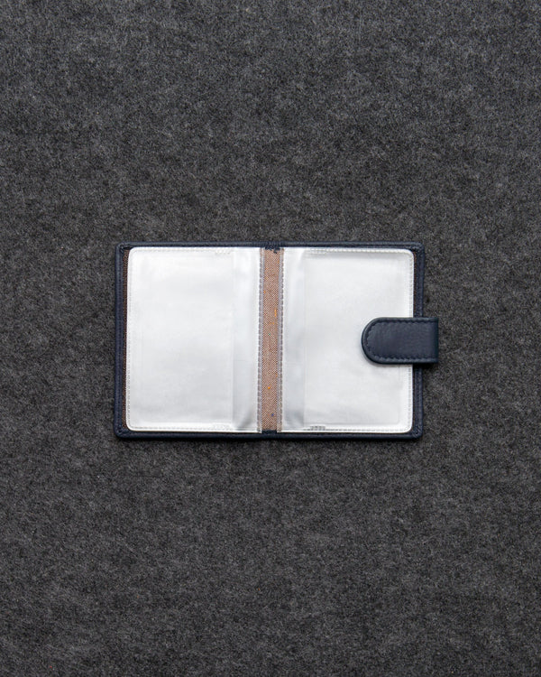 Tumble & Hide Newton Leather and Plastic Card Holder With Tab - Navy 5038 17 6 - Lucks of Louth