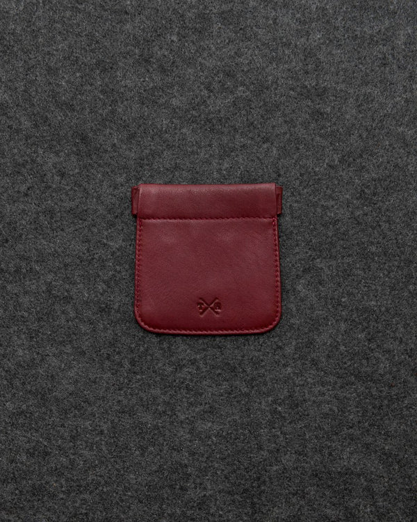 Tumble & Hide Newton Leather Snap Top Coin Pouch - Oxblood 1788 17 9 - Lucks of Louth