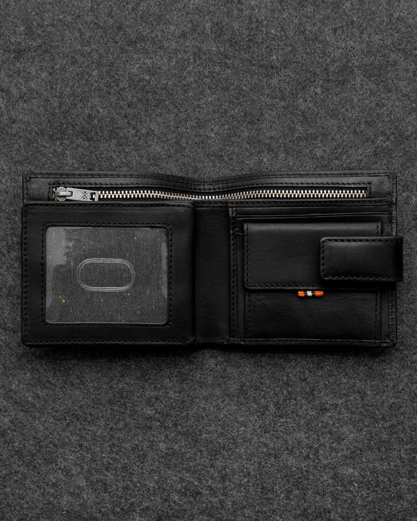Tumble & Hide Tudor Leather Everyday Wallet - Black TH2014 TDR 1 - Lucks of Louth
