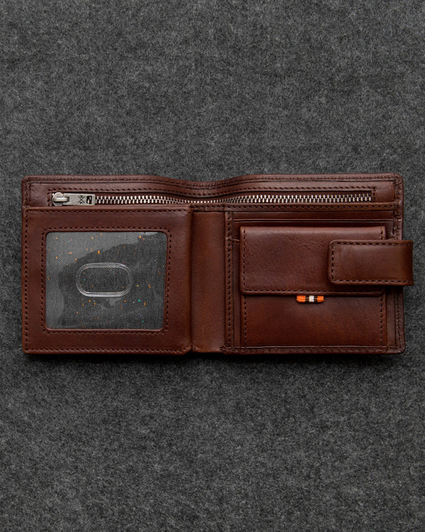 Tumble & Hide Tudor Leather Everyday Wallet - Brown TH2014 TDR 2 - Lucks of Louth