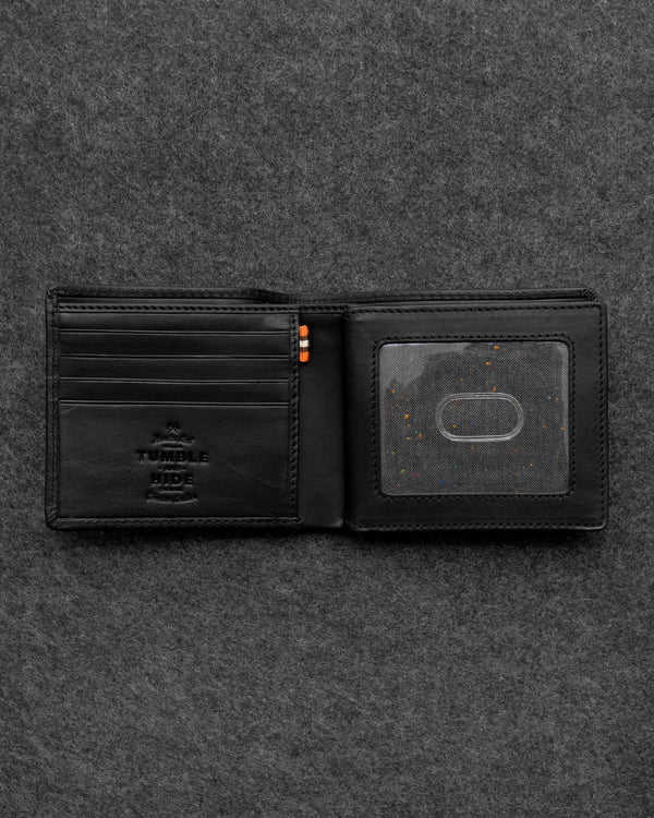 Tumble & Hide Tudor Leather Legion Wallet - Black TH2067 TDR 1 - Lucks of Louth