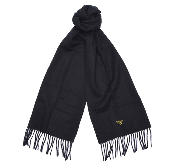 Barbour Plain Lambswool Scarf - Sapphire Blue - Lucks of Louth