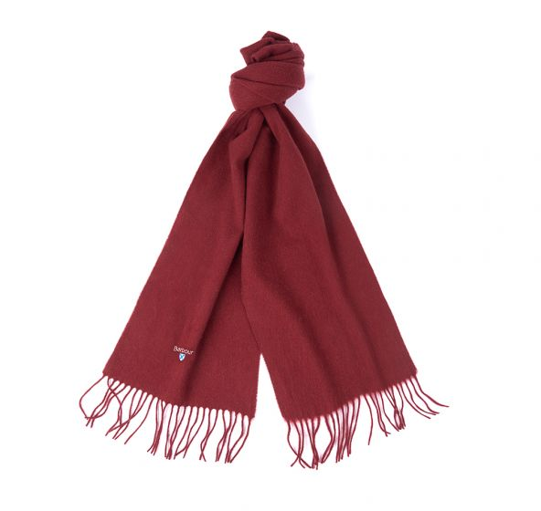Barbour Lambswool Scarf - Burgundy - Lucks of Louth