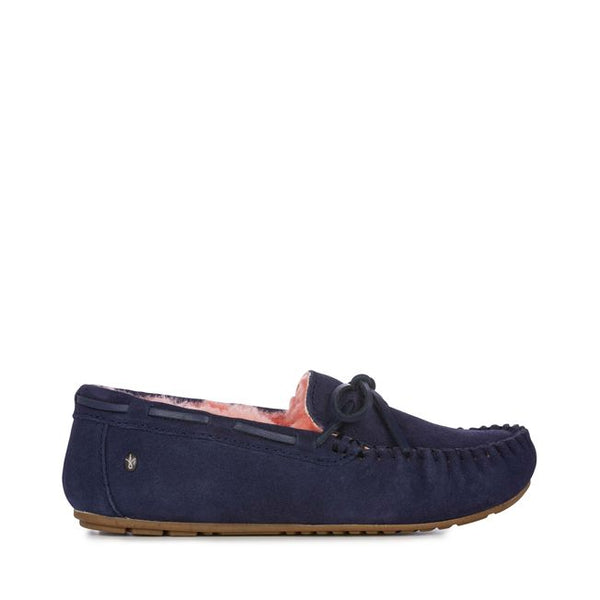 EMU Amity Slipper - Midnight/Burnt Red