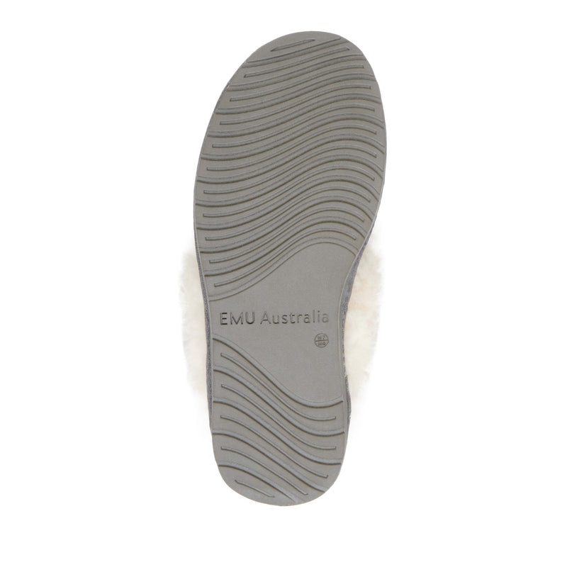 EMU Jolie Metallic Slipper - Charcoal (Silver) - Lucks of Louth