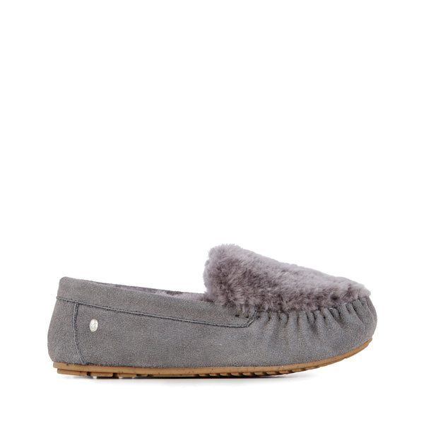EMU Cairns Reverse Fur Slipper - Charcoal