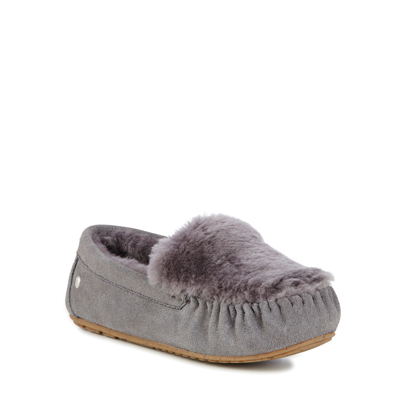 EMU Cairns Reverse Fur Slipper - Charcoal - Lucks of Louth