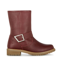 EMU Duke Biker Boots - Claret - Lucks of Louth