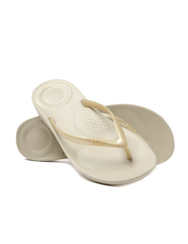 Fitflop IQushion Ergonomic Flip-Flops - Gold - Lucks of Louth