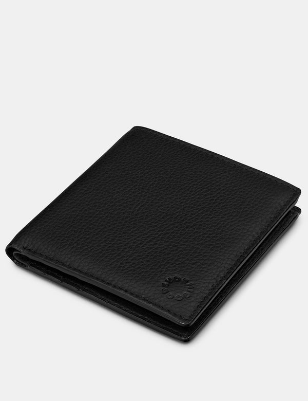 Yoshi Mens Slim Leather Wallet - Black (Y2018 17 1) - Lucks of Louth