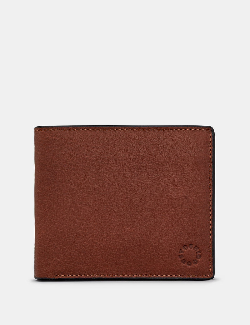 Yoshi Mens Extra Capacity Leather Wallet With Coin Pocket- Brown (Y2479 17 8) - Lucks of Louth