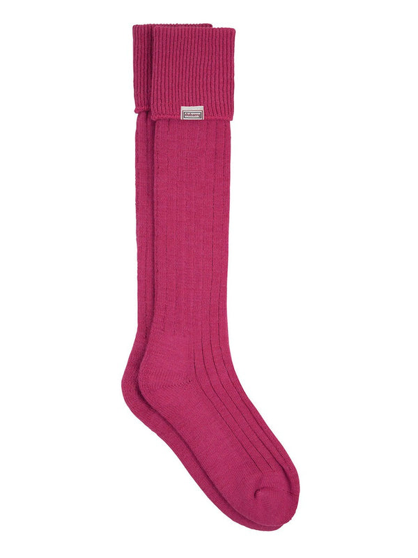 Dubarry Alpaca Wool Shooting Socks - Pink - Lucks of Louth