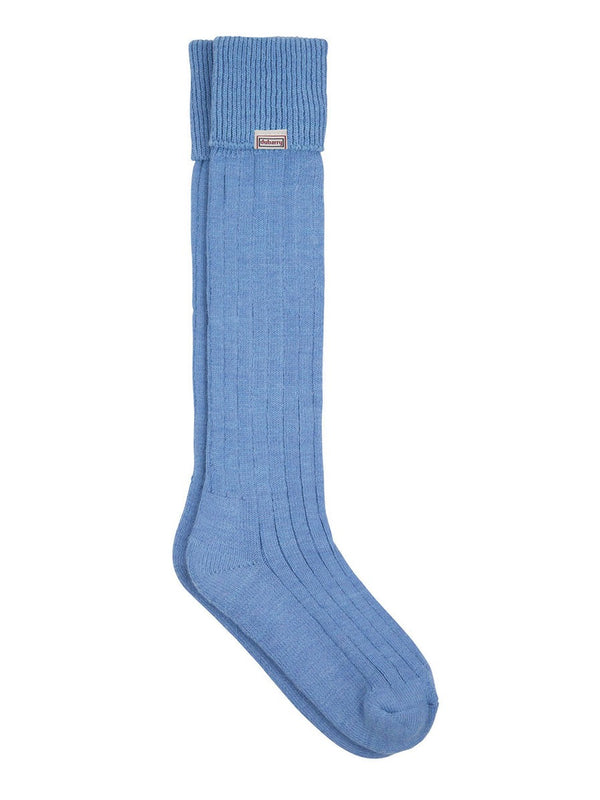 Dubarry Alpaca Wool Shooting Socks - Sky - Lucks of Louth