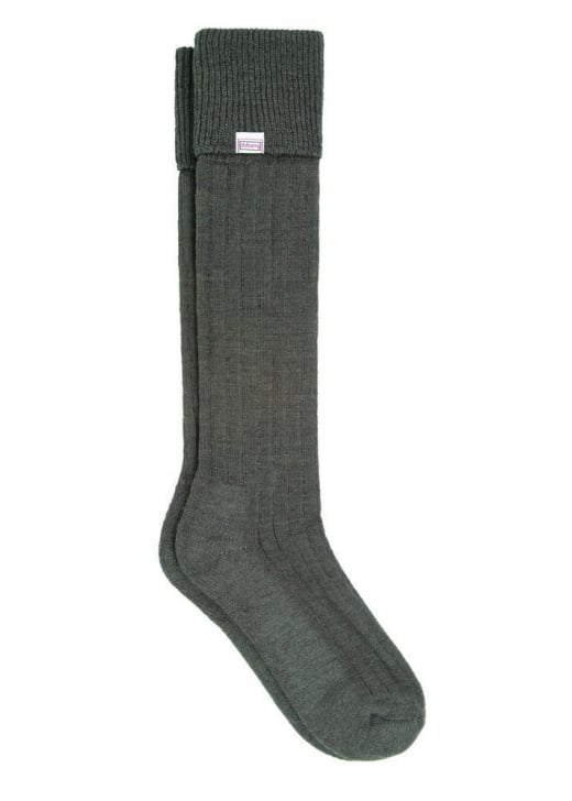 Dubarry Alpaca Wool Shooting Socks - Olive - Lucks of Louth