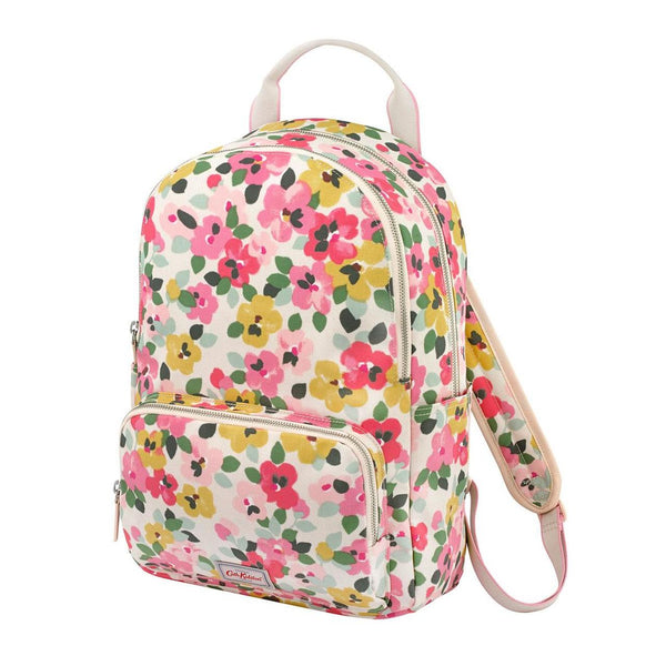 Cath Kidston Large Painted Pansies Pocket Backpack - Cream - Lucks of Louth