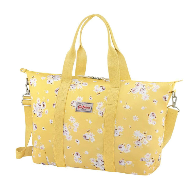 Cath Kidston Daisy Rose Foldaway Overnight Bag - Soft Yellow - Lucks of Louth
