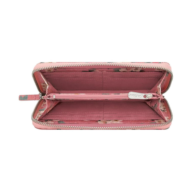 Cath Kidston Mayfield Blossom Continental Wallet - Dusty Pink - Lucks of Louth