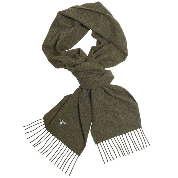 Barbour Plain Lambswool Scarf - Seaweed - Lucks of Louth