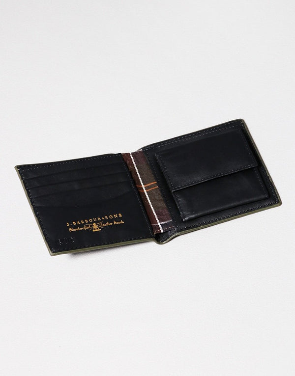 Barbour Grain Leather Bifold Wallet - Black - Lucks of Louth