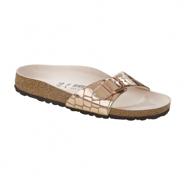 Birkenstock Madrid Narrow Fit Sandals - Gator Gleam Copper - Lucks of Louth