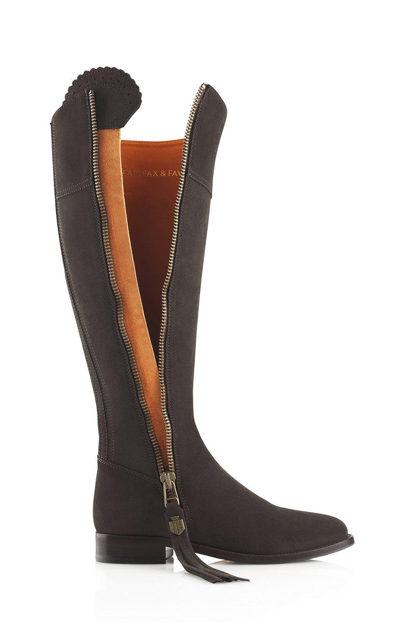 Fairfax & Favor Regina Boot (Flat) - Chocolate - Lucks of Louth