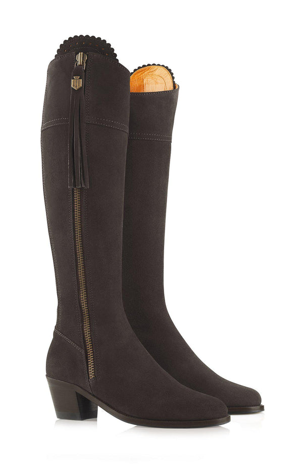 Fairfax & Favor Regina Boot (Heeled) - Chocolate - Lucks of Louth