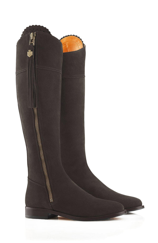 Fairfax & Favor Regina Boot (Flat) - Chocolate