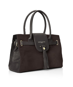Fairfax & Favor Windsor Handbag - Chocolate - Lucks of Louth