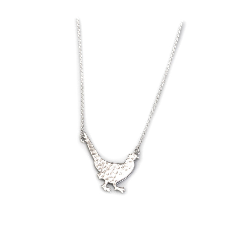 Hiho Silver Hammered Sterling Silver Pheasant Necklace - Lucks of Louth