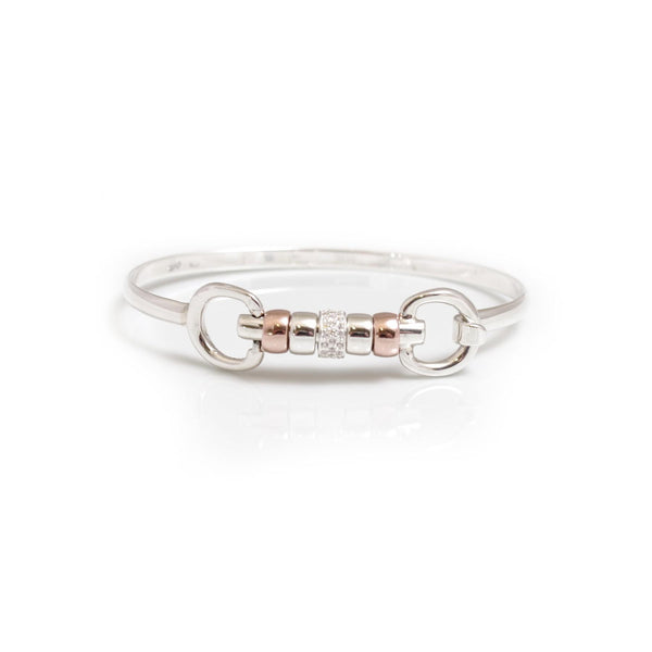 Hiho Silver Sterling Silver Cherry Roller Bangle - Lucks of Louth