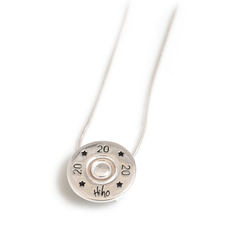 Hiho Silver Shotgun Cartridge Pendant With Silver Snake Chain - Lucks of Louth