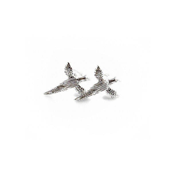 Hiho Silver Exclusive Sterling Silver Pheasant Studs - Lucks of Louth