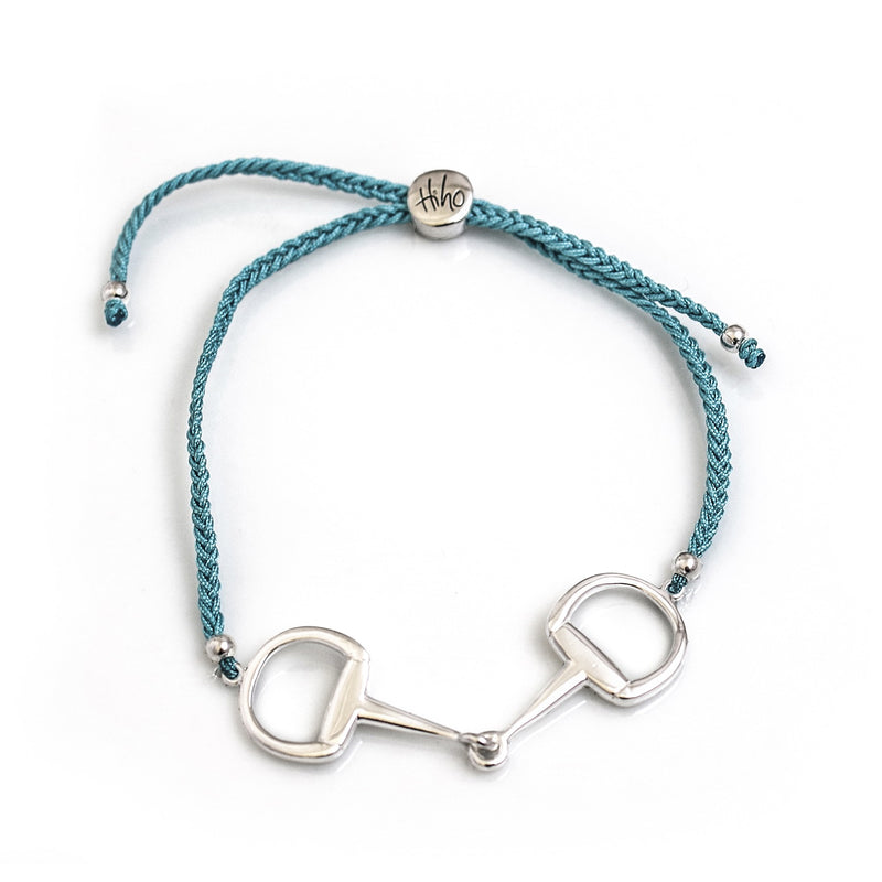 Hiho Silver Sterling Silver Snaffle Friendship Bracelet - Turqoise - Lucks of Louth
