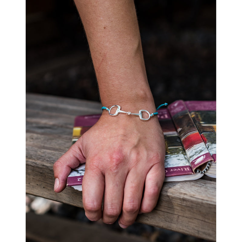 Hiho Silver Sterling Silver Snaffle Friendship Bracelet - Pink - Lucks of Louth