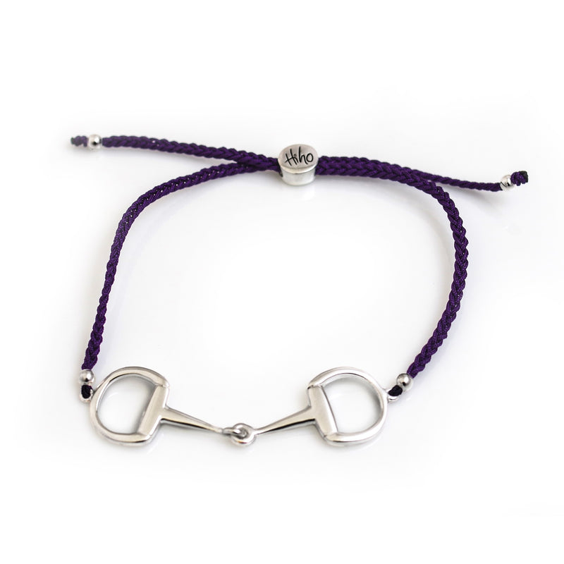 Hiho Silver Sterling Silver Snaffle Friendship Bracelet - Purple - Lucks of Louth