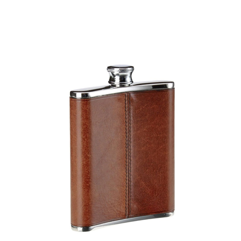 The Bridge 6oz Hip Flask - Brown - Lucks of Louth