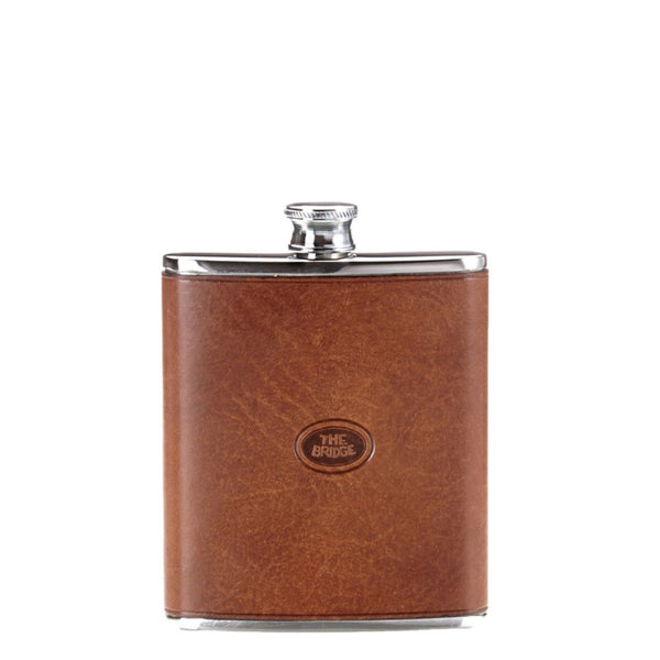 The Bridge 6oz Hip Flask - Brown