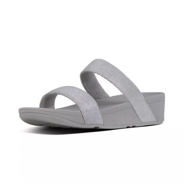 Fitflop Lottie Glitzy Slide Sandal - Silver - Lucks of Louth