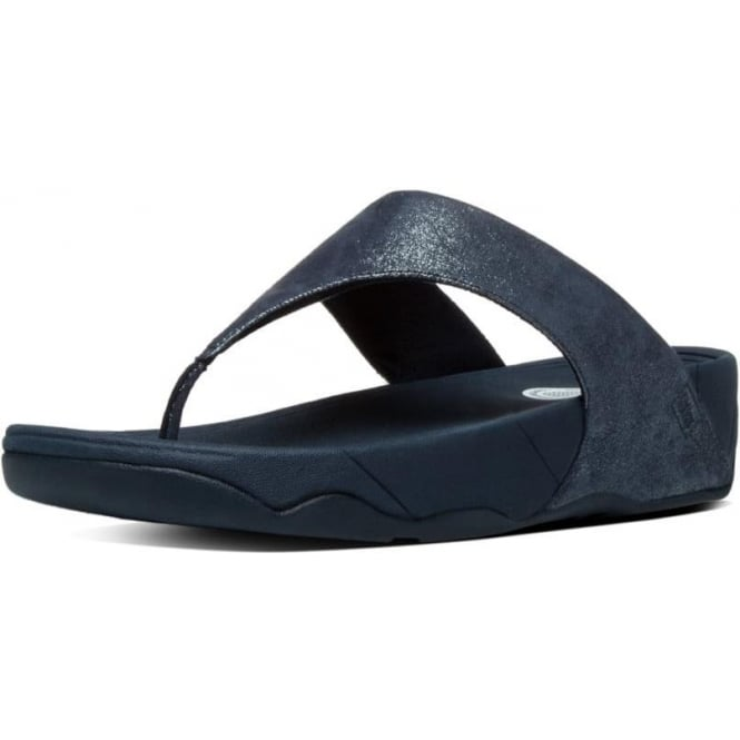 Fitflop Lulu Toe Post Sandal - Black Shimmer - Lucks of Louth