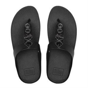 Fitflop Fino Circle Toe-Thong - Black - Lucks of Louth