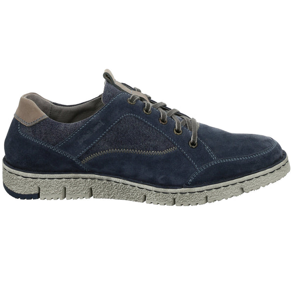 Josef Seibel Ruben 23 Suede Shoe - Dunkelblau-Kombi (Dark Blue) - Lucks of Louth
