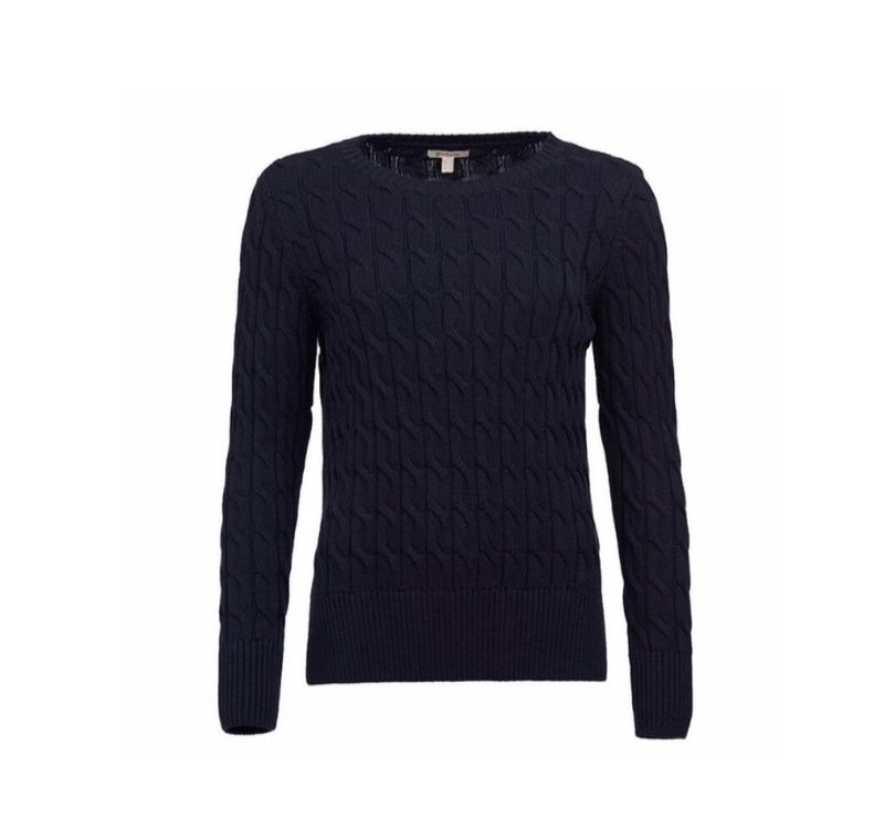 Barbour Lewes Knit Sweater - Navy - Lucks of Louth