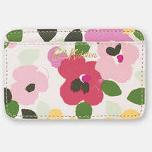 Cath Kidston Large Painted Pansies Card Holder - Warm Cream - Lucks of Louth
