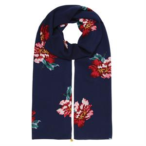 Joules Conway Scarf - Navy Peony - Lucks of Louth